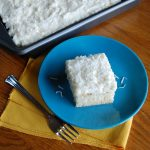 Coconut Cream Sheet Cake