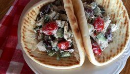 Greek Chicken Salad Gyros
