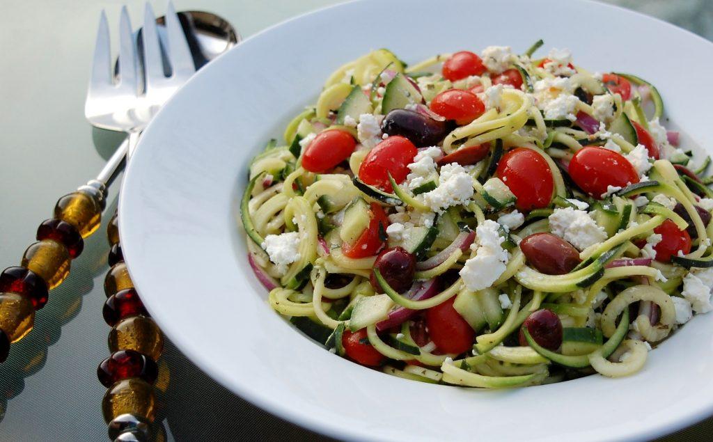 Image result for greek zoodle salad