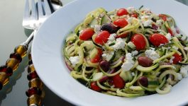 Greek Zoodle Salad