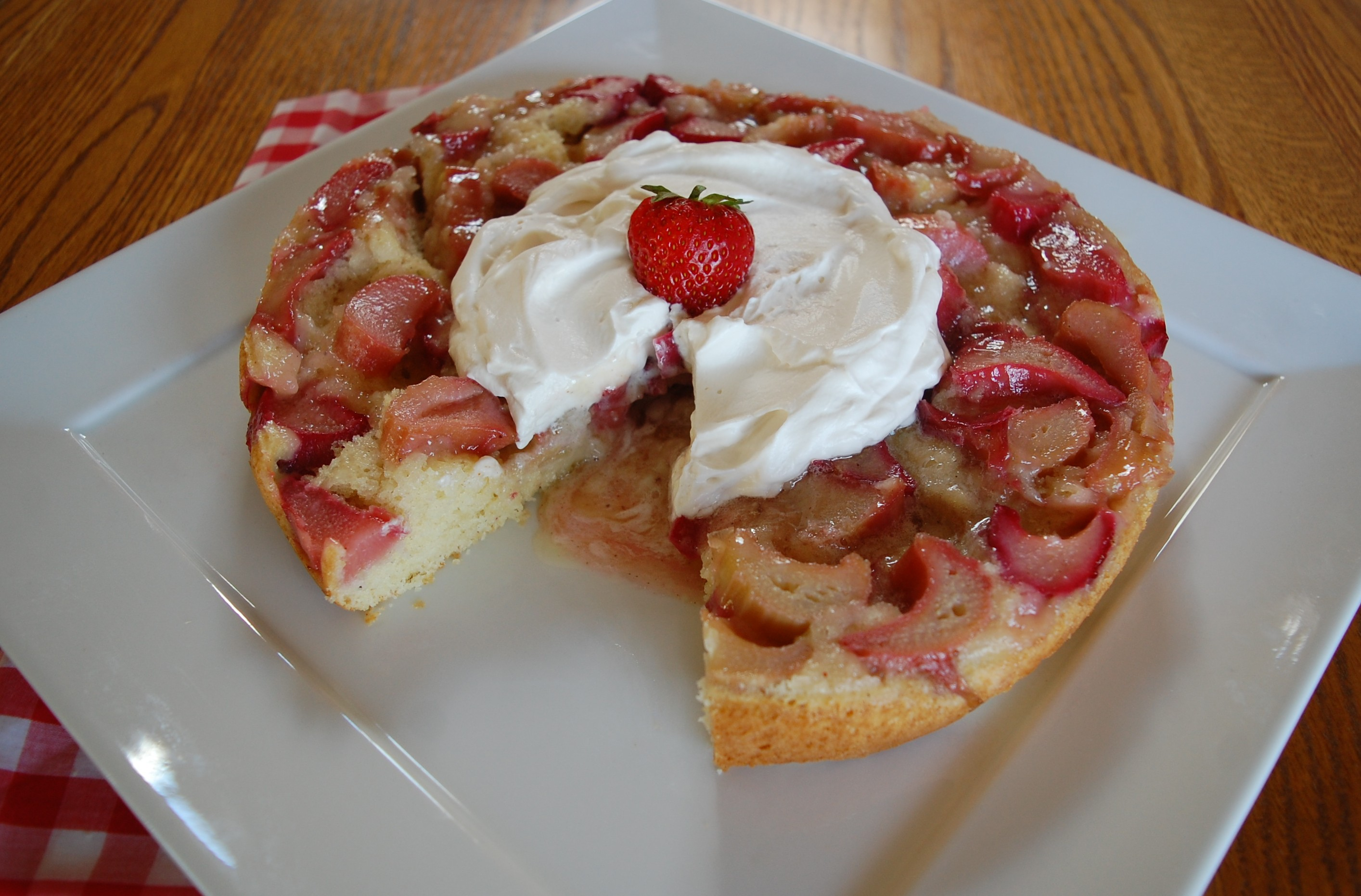 Rhubarb Upside Down Cake Cooking Mamas